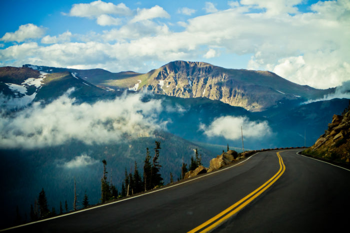 The road is closed in winter months due to safety concerns, but this is a perfect summer road trip.
