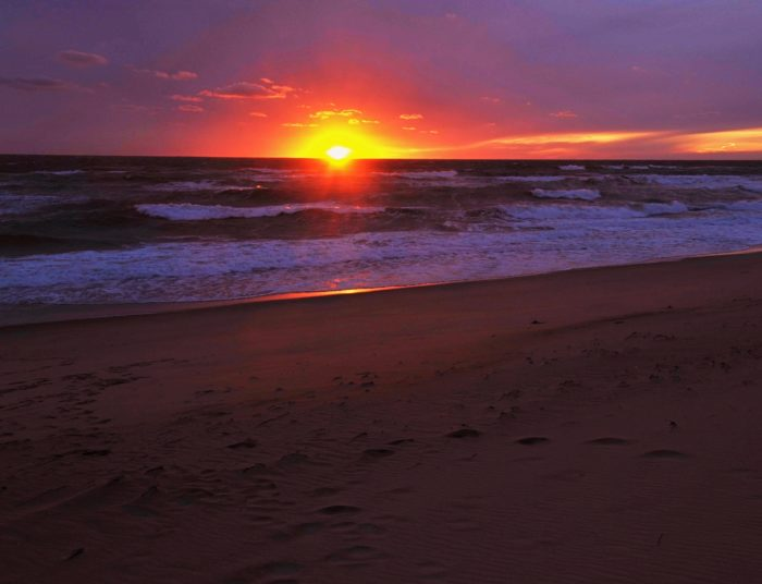 No matter how many people turn out for the sunset, the beach is large enough to accommodate everyone with room to spare.