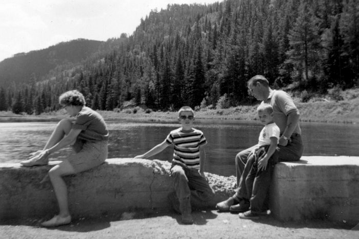 6. A family visiting Spearfish Canyon, 1961
