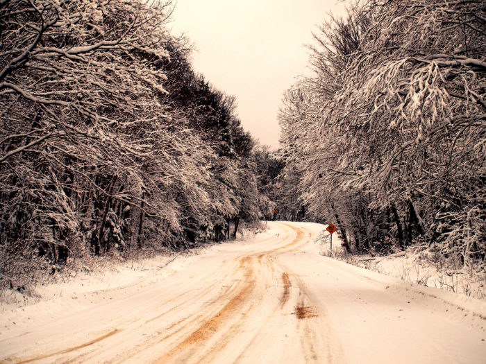 15. You know that driving on rural roads is much easier in the winter.