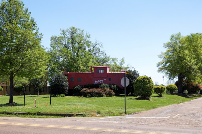 The iconic Madison Caboose welcomes residents and visitors alike.