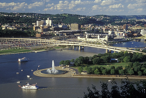 12. Point State Park: where the Monongahela and Allegheny Rivers meet to form the Ohio River.
