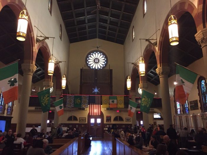 The church sat empty until 1996 when, after its restoration, it reopened as what is now the popular Church Brew Works.