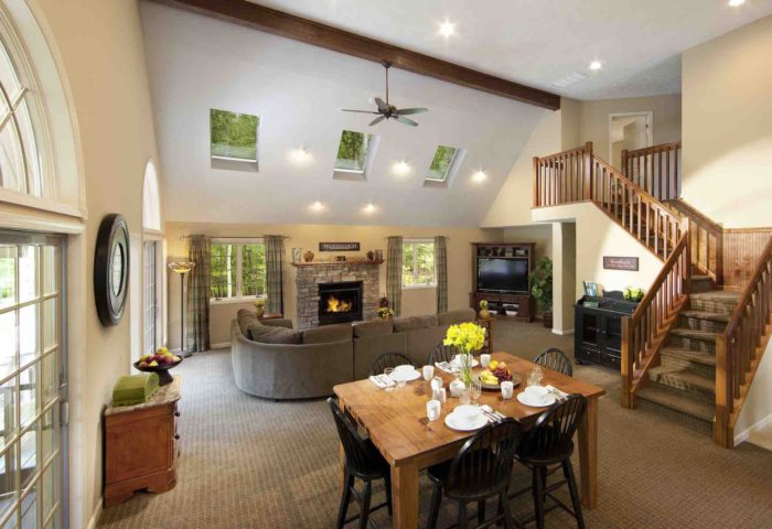 luxurious guesthouse on the grounds of Woodloch Resort.