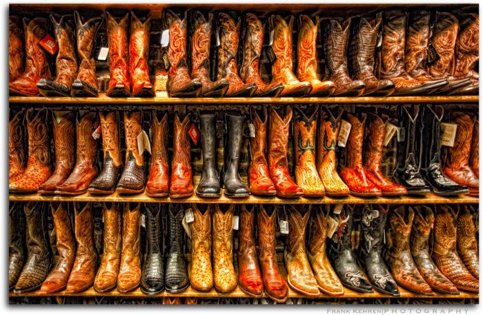 7. Wear rhinestones + cowboy boots.
