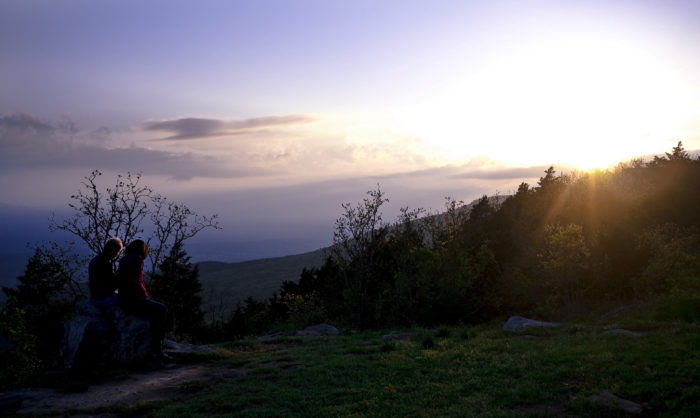 4. You can catch stunning sunsets in the Ouachitas.