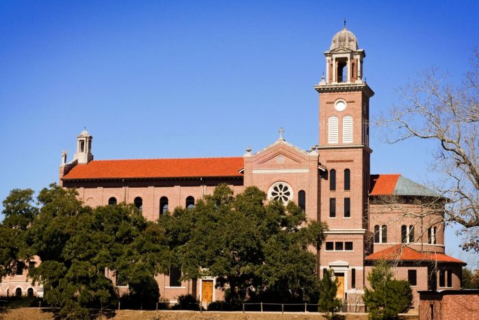 The Abbey church is on the National Register of Historic Places for its amazing architecture.