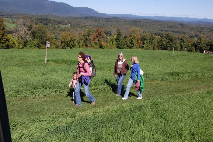 The hike to this area in Heath is definitely easy enough for families or inexperienced trekkers. Plus, the views are killer!