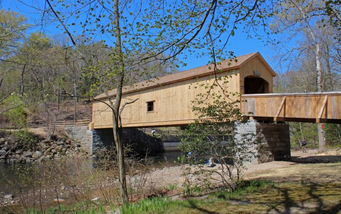 1. Take a walk over one of the state's last remaining covered bridges, located in East Hampton.