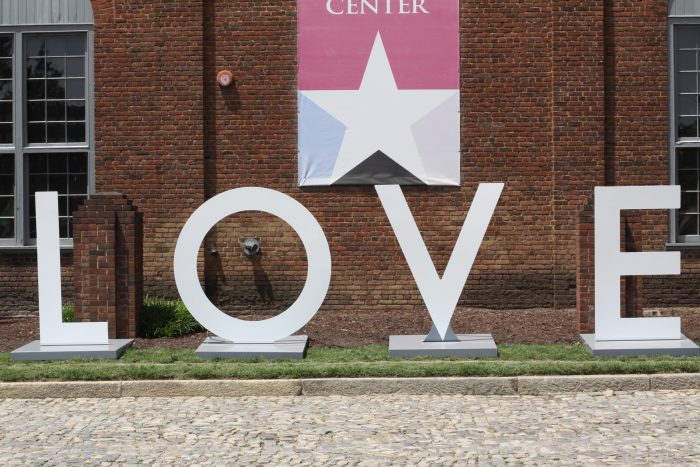 14. Locate a Virginia Loveworks sign.