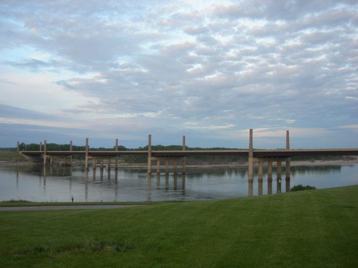 8. Wide bridge in Yankton, South Dakota