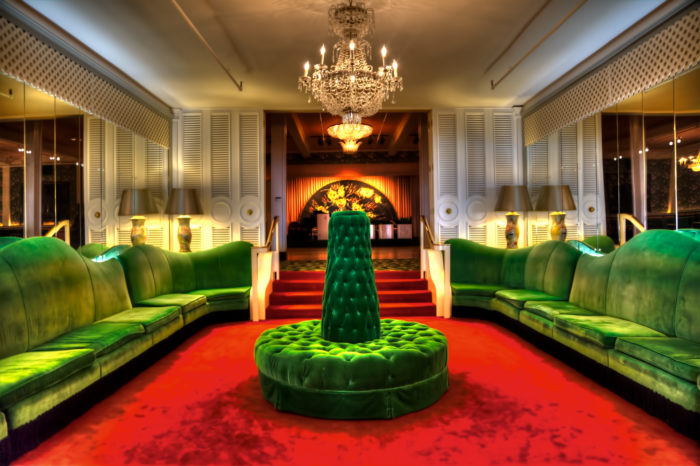 The Green Velvet Couches at the Grand Hotel on Mackinac Island.