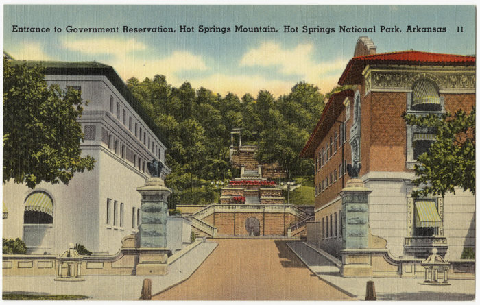 Hot Springs is the oldest federal reserve in the United States. It was protected before the National Park Service was a gleam in Congress's eye.