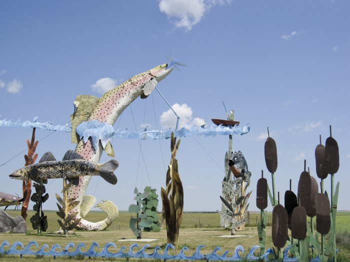 8. And the huge metal sculptures of the Enchanted Highway, of course