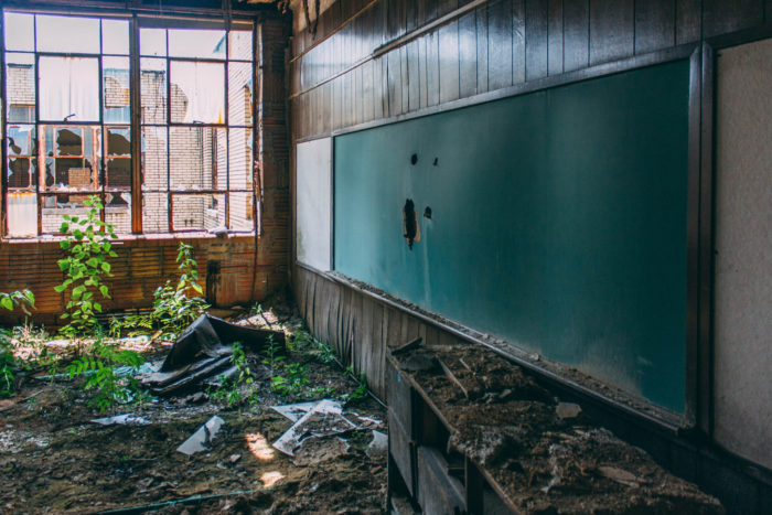 But there are still many abandoned schools across the country that are simply sitting in silence.