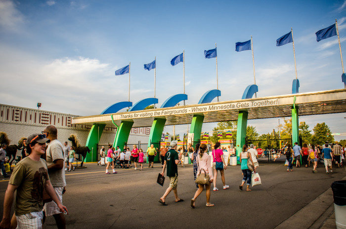 7. Losing someone briefly at the State Fair - and panicking way too much.