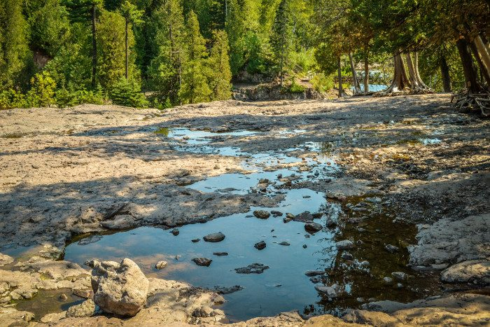 3. In everyone's favorite park, it seems hard to get a little quiet time alone with nature, but taking the fifth falls trail up and continuing into the lesser walked areas of Gooseberry Falls State Park will give you an epic reward!