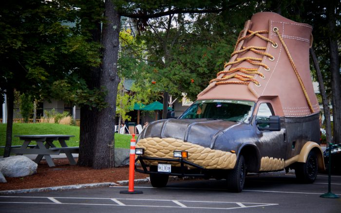9. The L.L.Bean Bootmobile, anywhere you're lucky enough to spot it!