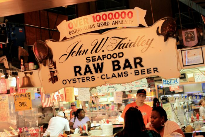 The star of Lexington Market is Faidley's Seafood.