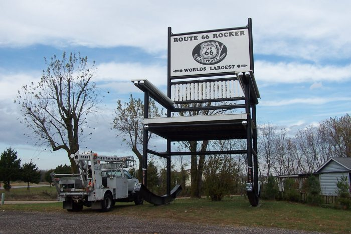 8. World's Largest Rocking Chair – Cuba, Mo.
