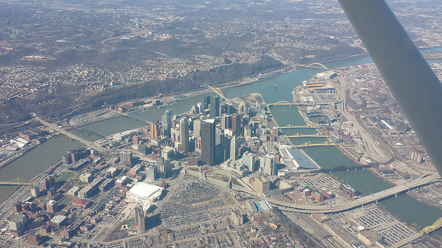 4. Downtown Pittsburgh from the sky.
