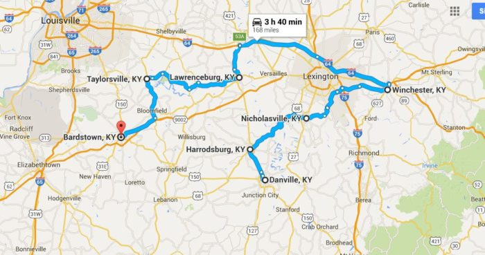8. Small town road trip map: