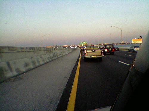 8. Travelled in the far left lane.