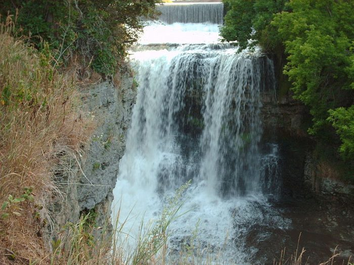 5. The Vermillion River Falls in Hastings are truly gorgeous, cascading down in multiple layers for an epic view.