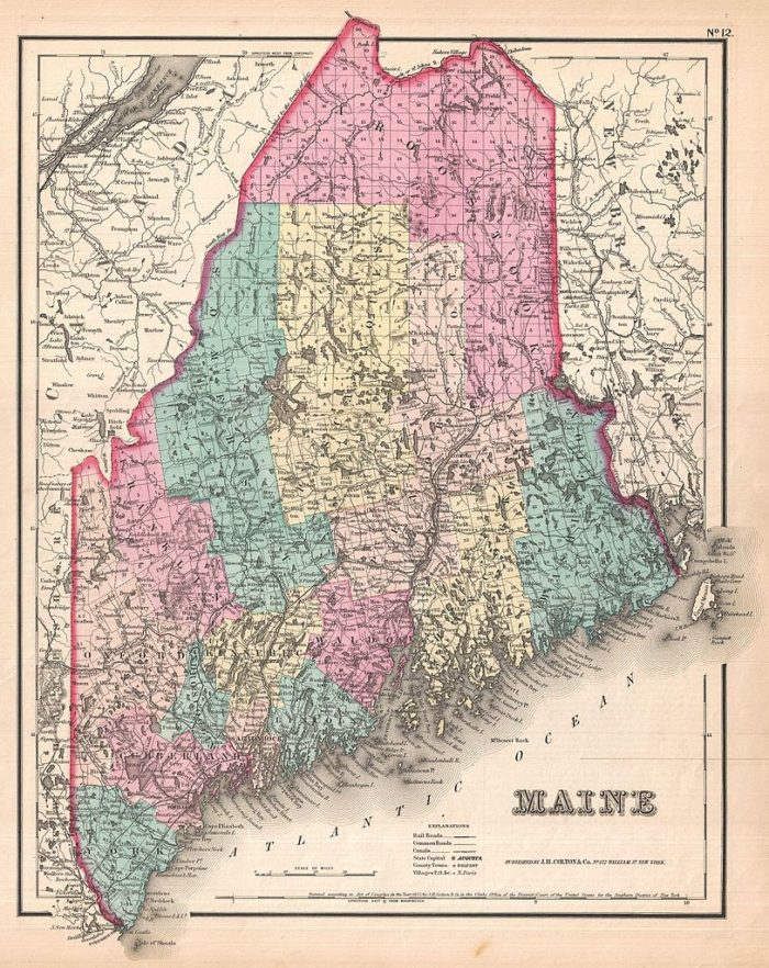 """1. For no good reason, you start singing, """"Cumberland and Franklin, Piscataquis and Kennebec..."""""""