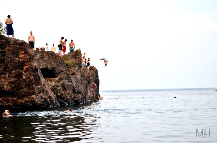 7. Cliff-diving in Marquette
