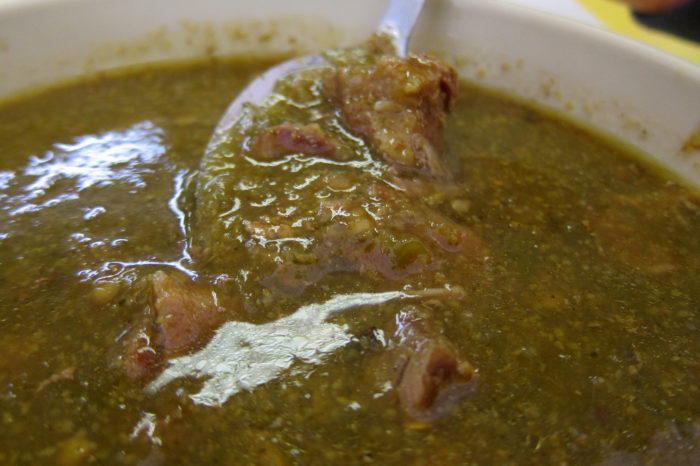 20. Smothered something in green chile.