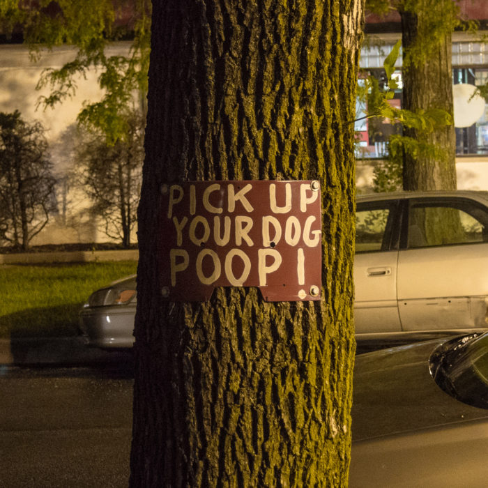 5. Leaving their dog poop and/or plastic bag filled with dog poop on the trail or sidewalk.