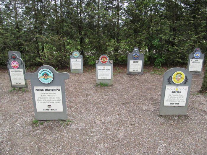 10.  Ben & Jerry's Flavor Graveyard, Waterbury