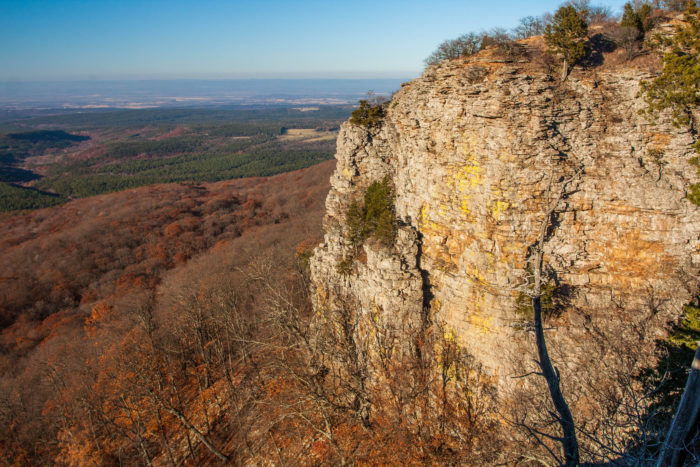 16.We all know the Buffalo National River has amazing views of bluffs, but Cameron Bluff, located near Mount Magazine, is one of the coolest in the state.