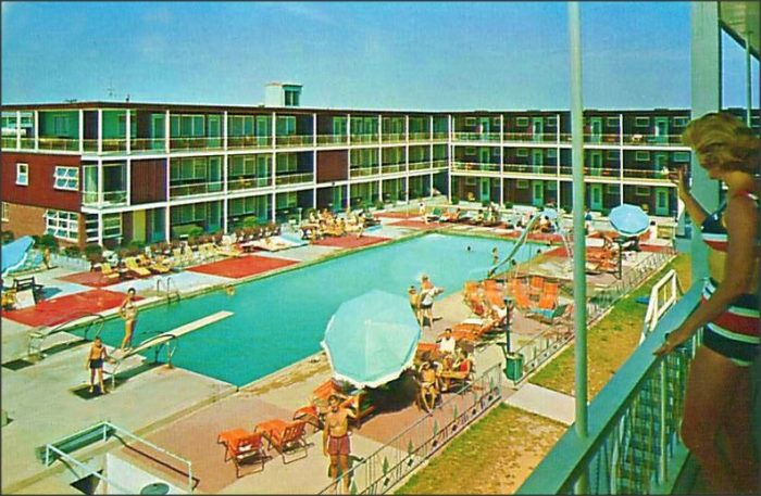 8. An image of the Stowaway Motel in Ocean City, 1960s.