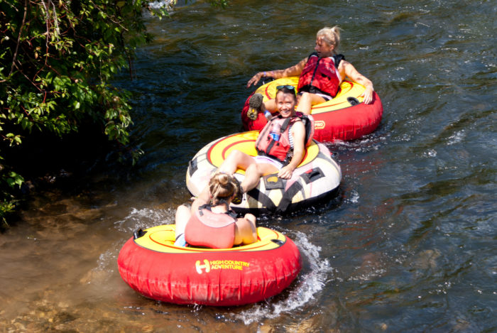 Float with a group of your friends,
