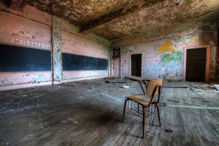 There's still hope for these abandoned buildings. Most school buildings built before World War II were actually built to be lit with natural light, which makes them attractive to potential developers.