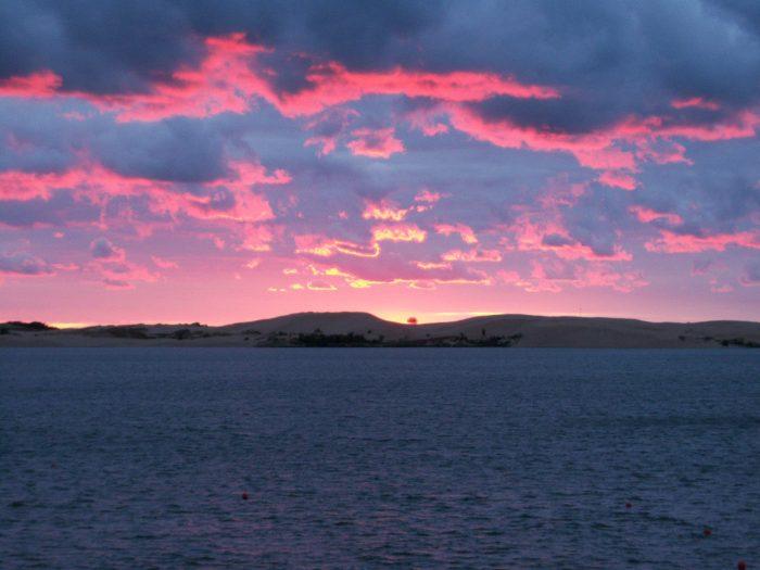 Sunset on Silver Lake Sand Dunes, Lake Michigan. September 8, 2010.