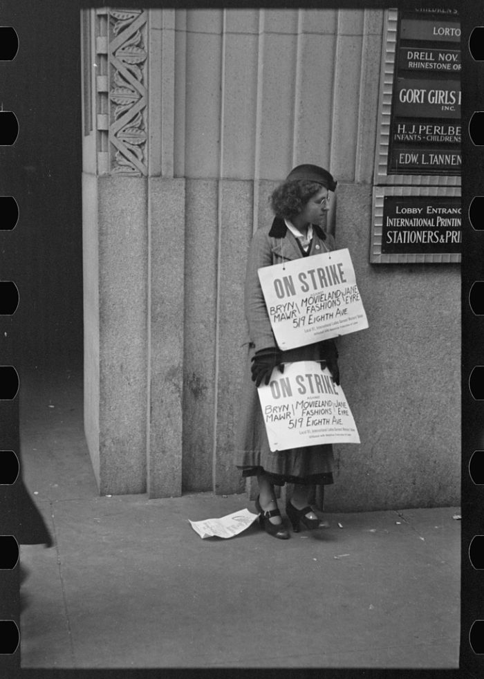 2. Another sight you often saw in New York City during the 1930s, people on strike and protesting in the streets.