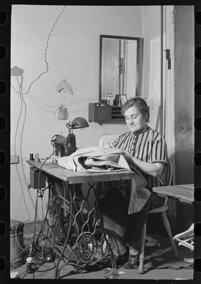 3. Technology is always changing! Pictured below you can see a woman working in a New York City tailor shop in 1936.