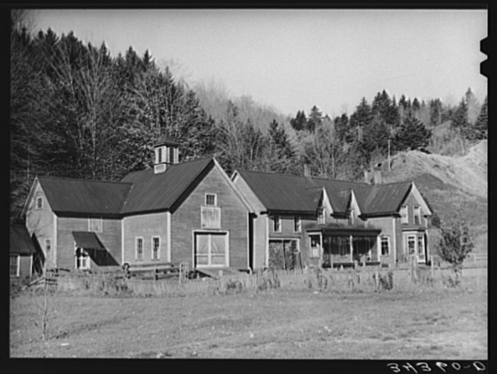 18.  Old farmstead near Bridgewater.