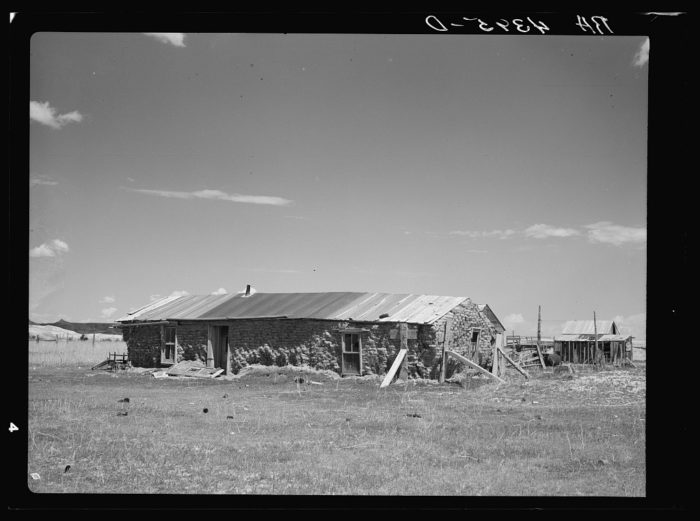 "5. ""Sod house homestead on submarginal land purchased by United States Resettlement Administration. Pennington County, South Dakota,"" 1936"