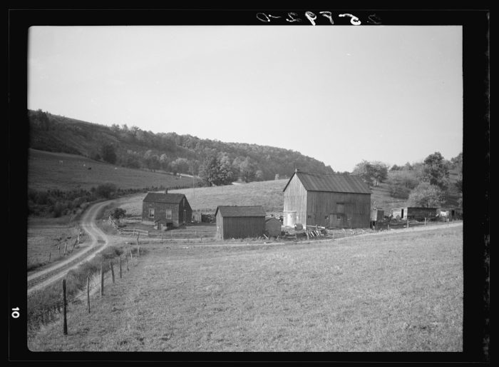 9. Taken in 1937, you can see a functioning farm out in Otsego County.