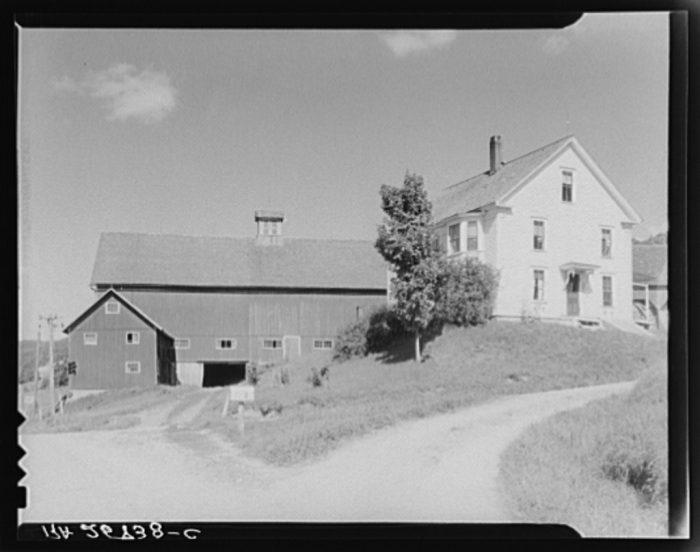 9.  House and barn on the McNally farm.