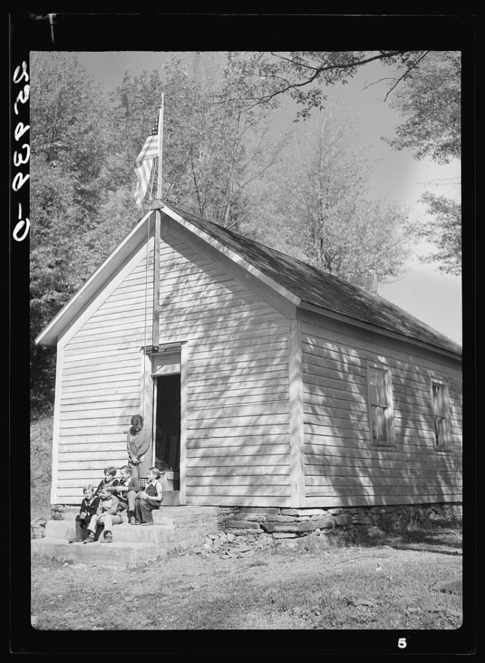 16. When the days of single room schoolhouses were still alive! Here you can see a group children sitting outside of an Albany County schoolhouse.