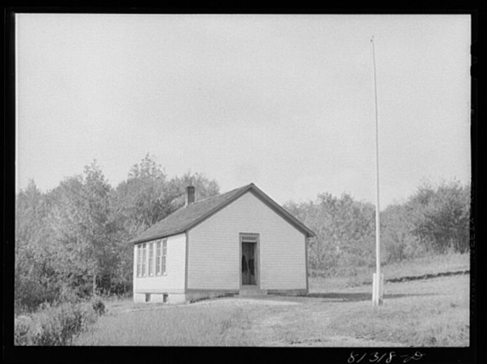1. A schoolhouse in the Savoy Mountains, 1931.