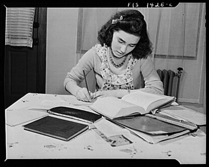 9. The daughter of a Portuguese house painter in New Bedford, 1942