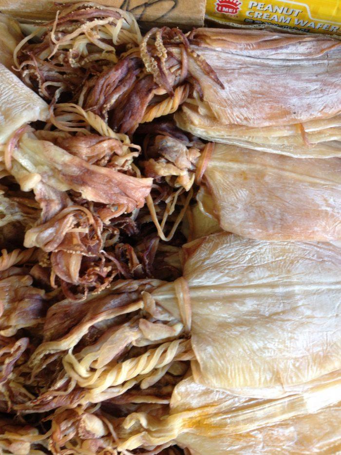 9. Some people swear by dried squid with li hing mui.
