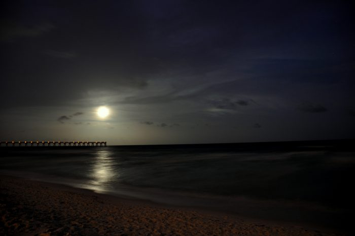Moonlit Navarre Beach