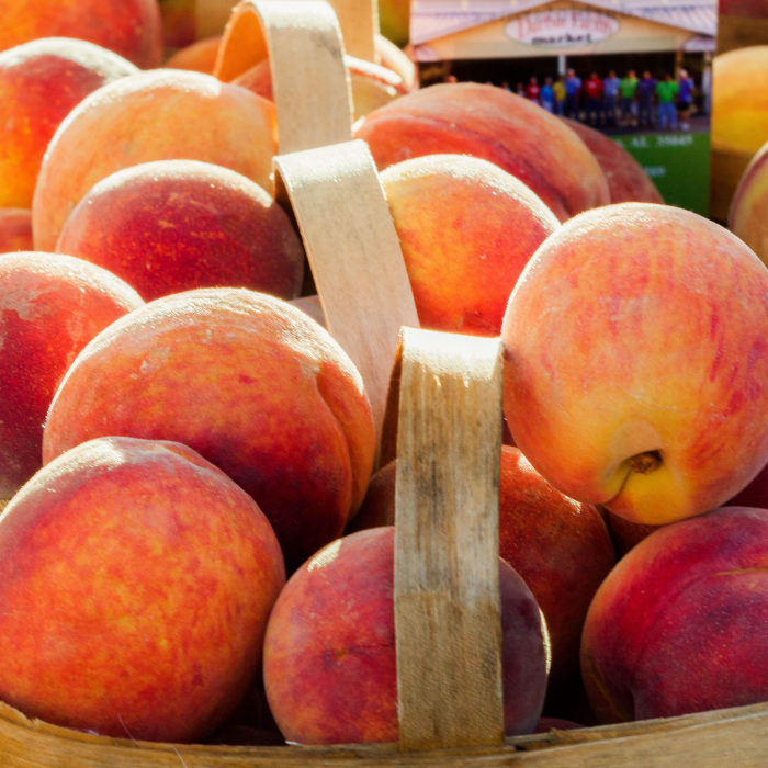 6. And of course, we produce some darn good peaches. There's nothing like a juicy Georgia peach to make your day.